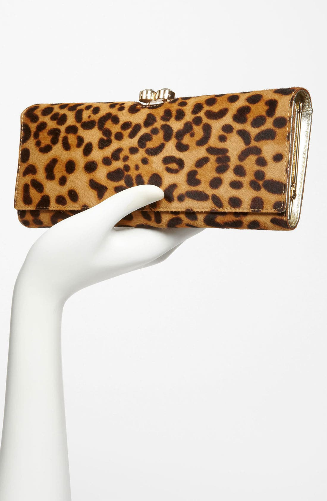 Alternate Image 2  - Ted Baker London 'Crystal Bobble - Extra Large' Calf Hair Matinee Wallet