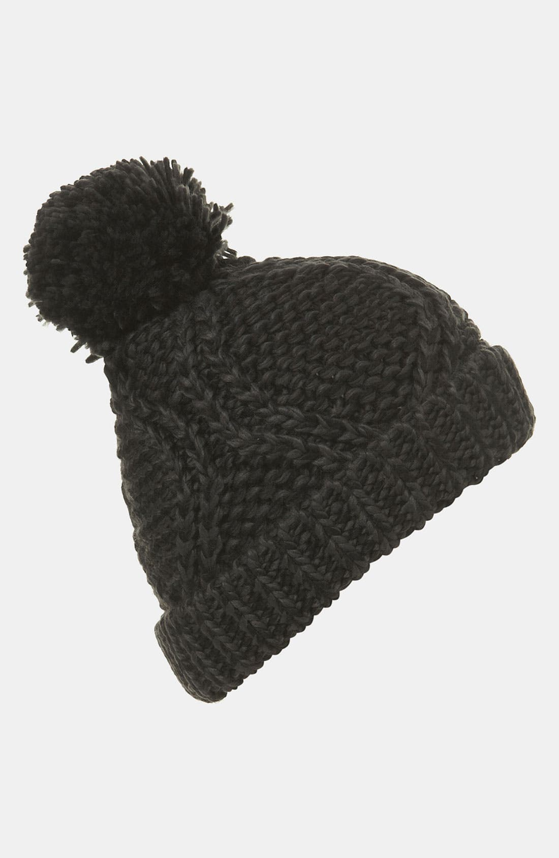 Main Image - Topshop Cable Knit Pompom Hat