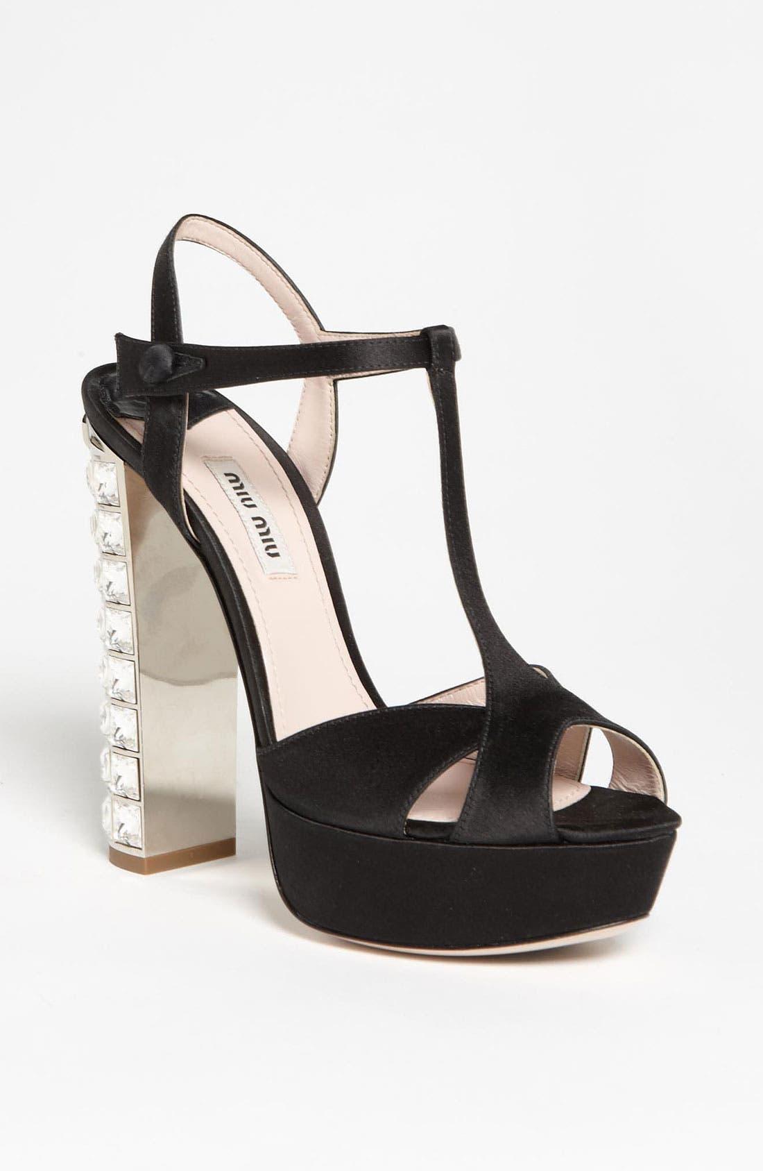Main Image - Miu Miu Crystal Heel Sandal