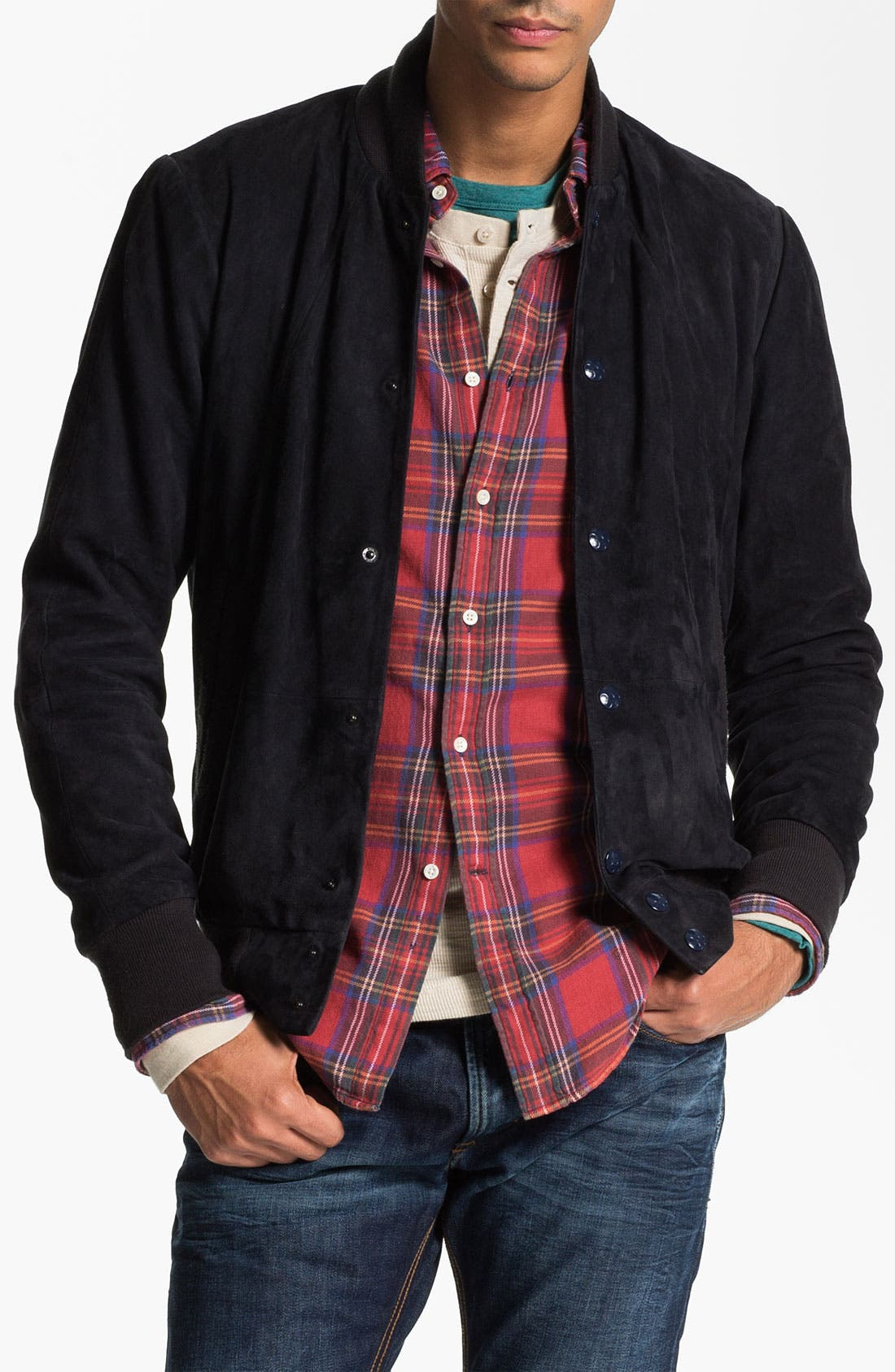 Alternate Image 1 Selected - G-Star Raw 'Marc Newson' Suede Bomber Jacket