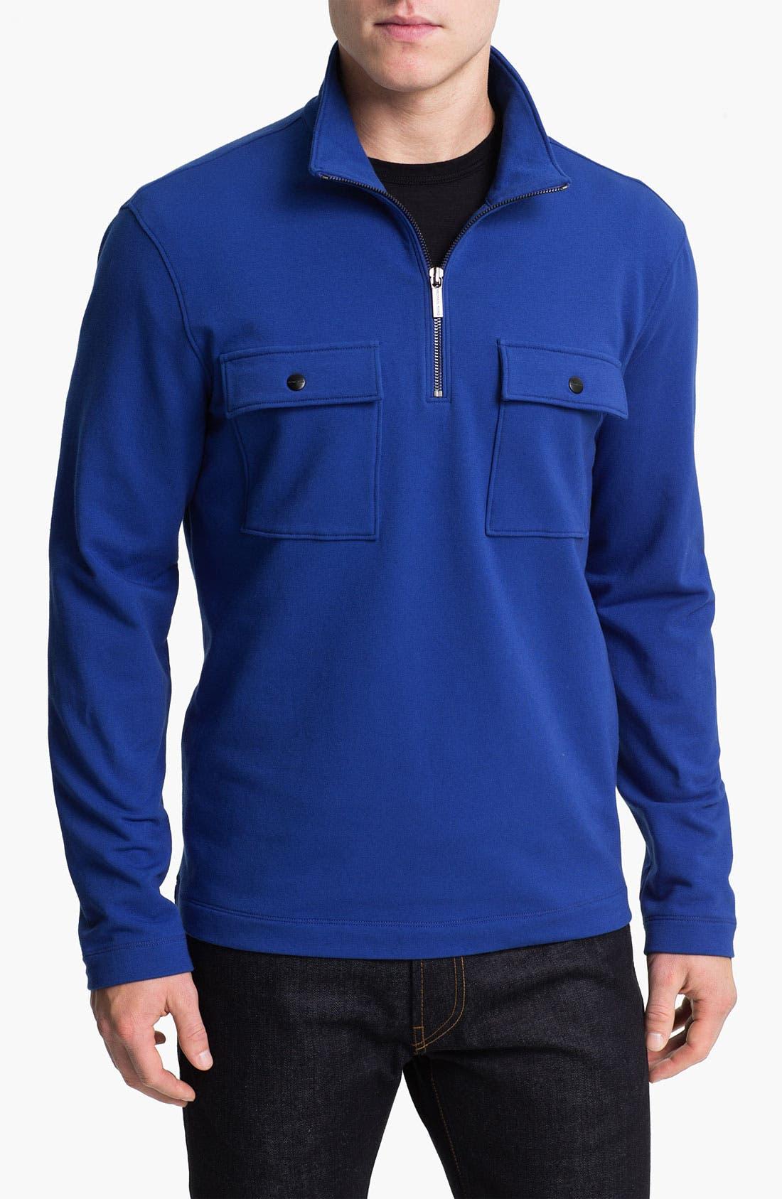 Alternate Image 1 Selected - Michael Kors Half Zip Fleece Pullover
