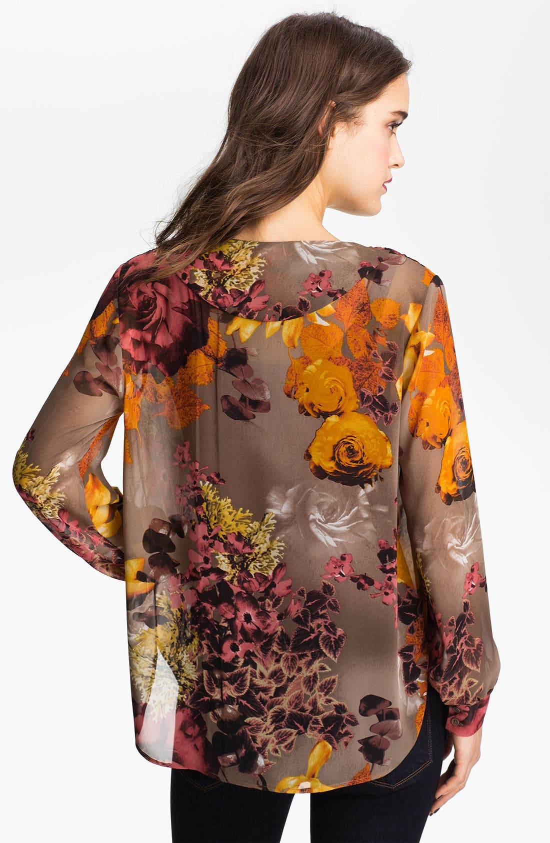 Alternate Image 2  - Bellatrix Print Sheer Blouse