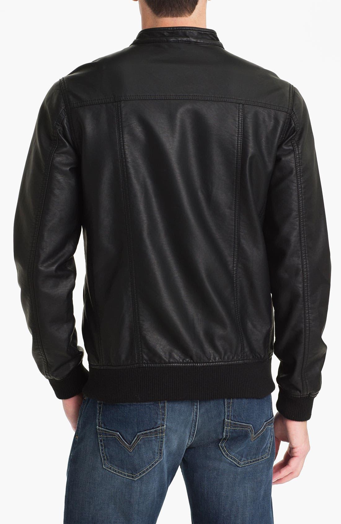 Alternate Image 2  - RVCA 'Crasher' Faux Leather Jacket