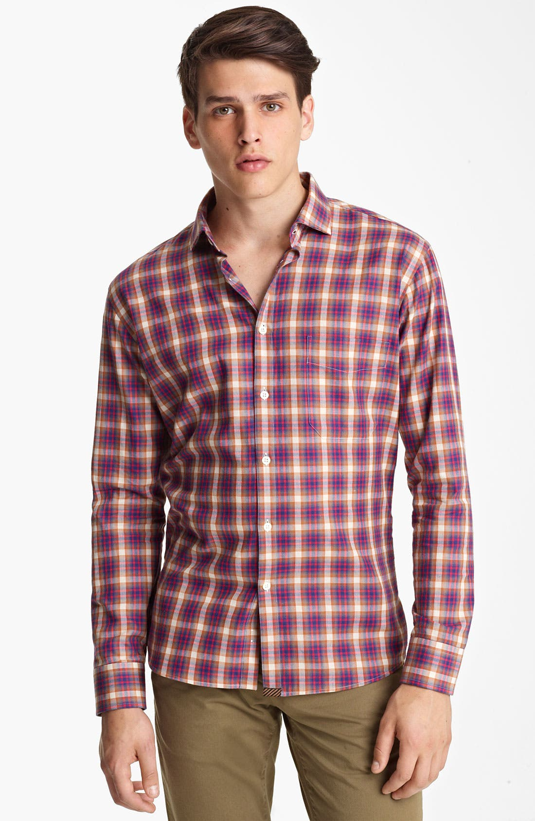 Alternate Image 1 Selected - Billy Reid 'John T' Plaid Woven Shirt