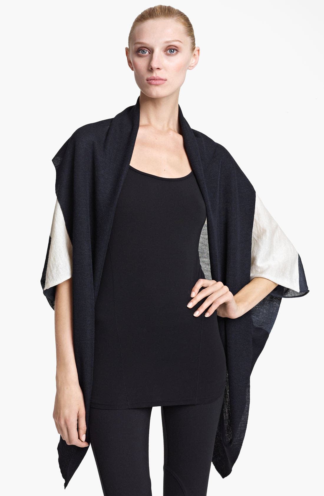 Main Image - Vionnet Draped Silk & Alpaca Cardigan