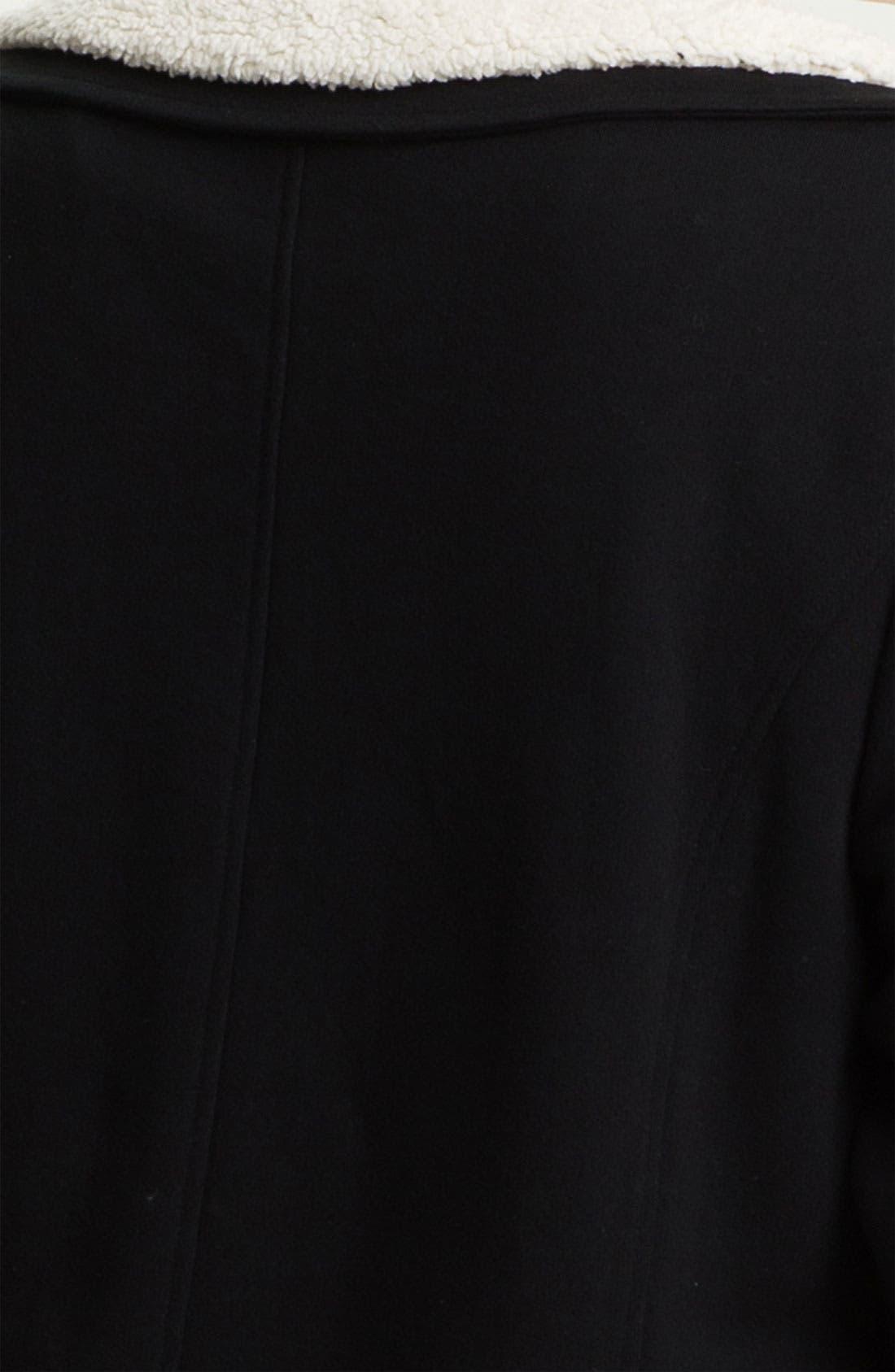 Alternate Image 5  - Sejour Fleece Collar French Terry Jacket (Plus)