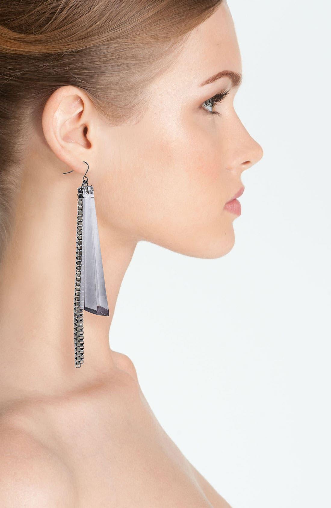 Alternate Image 2  - Adia Kibur Lucite® Chain Fan Earrings