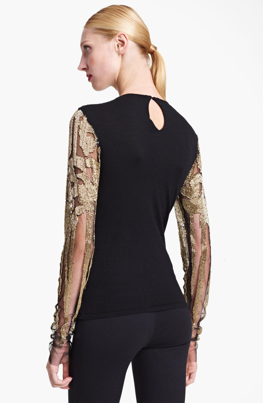 Alternate Image 2  - Naeem Khan Embroidered Cashmere Top