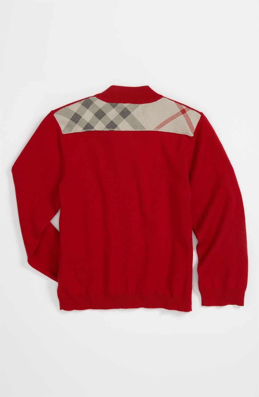 Alternate Image 2  - Burberry High Neck Sweater (Infant)