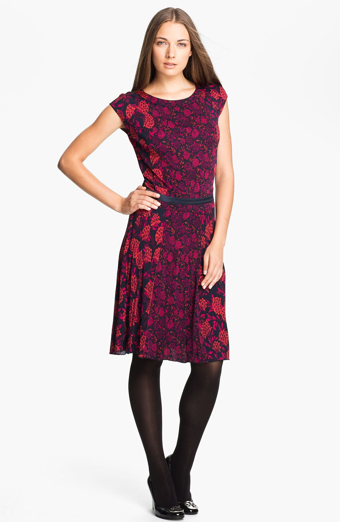Main Image - Tory Burch 'Tamia' Print Blouson Dress