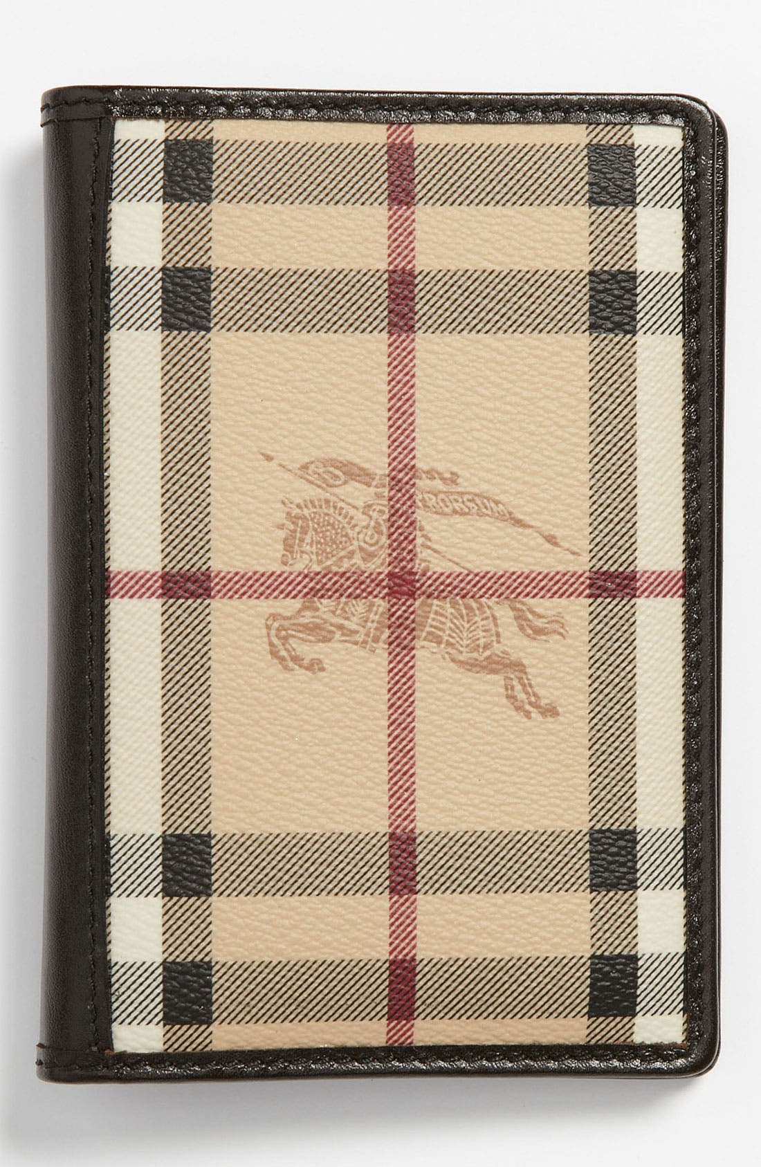 Main Image - Burberry 'Haymarket Check' Passport Wallet