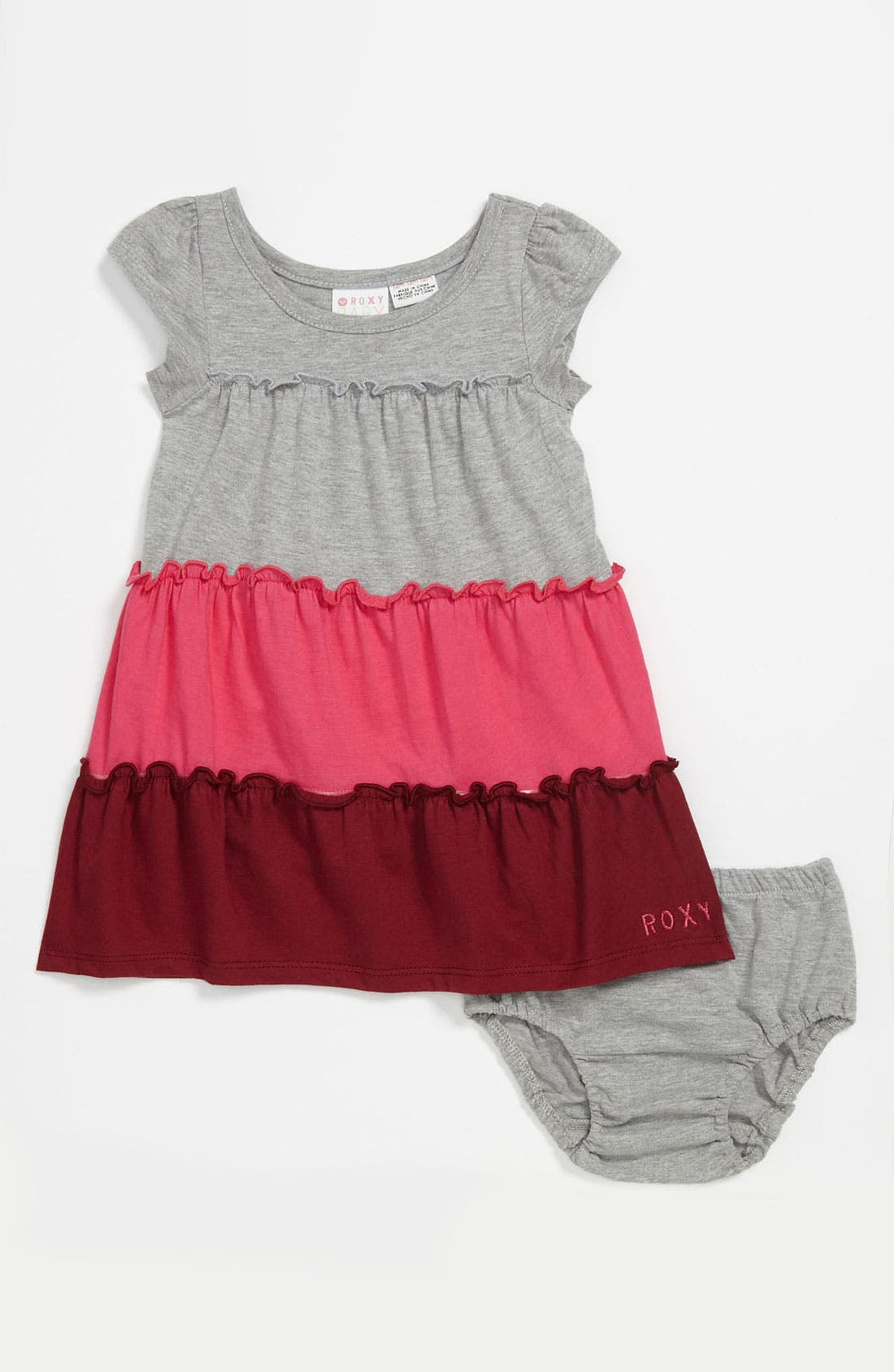 Main Image - 'Cider' Colorblock Dress (Infant)