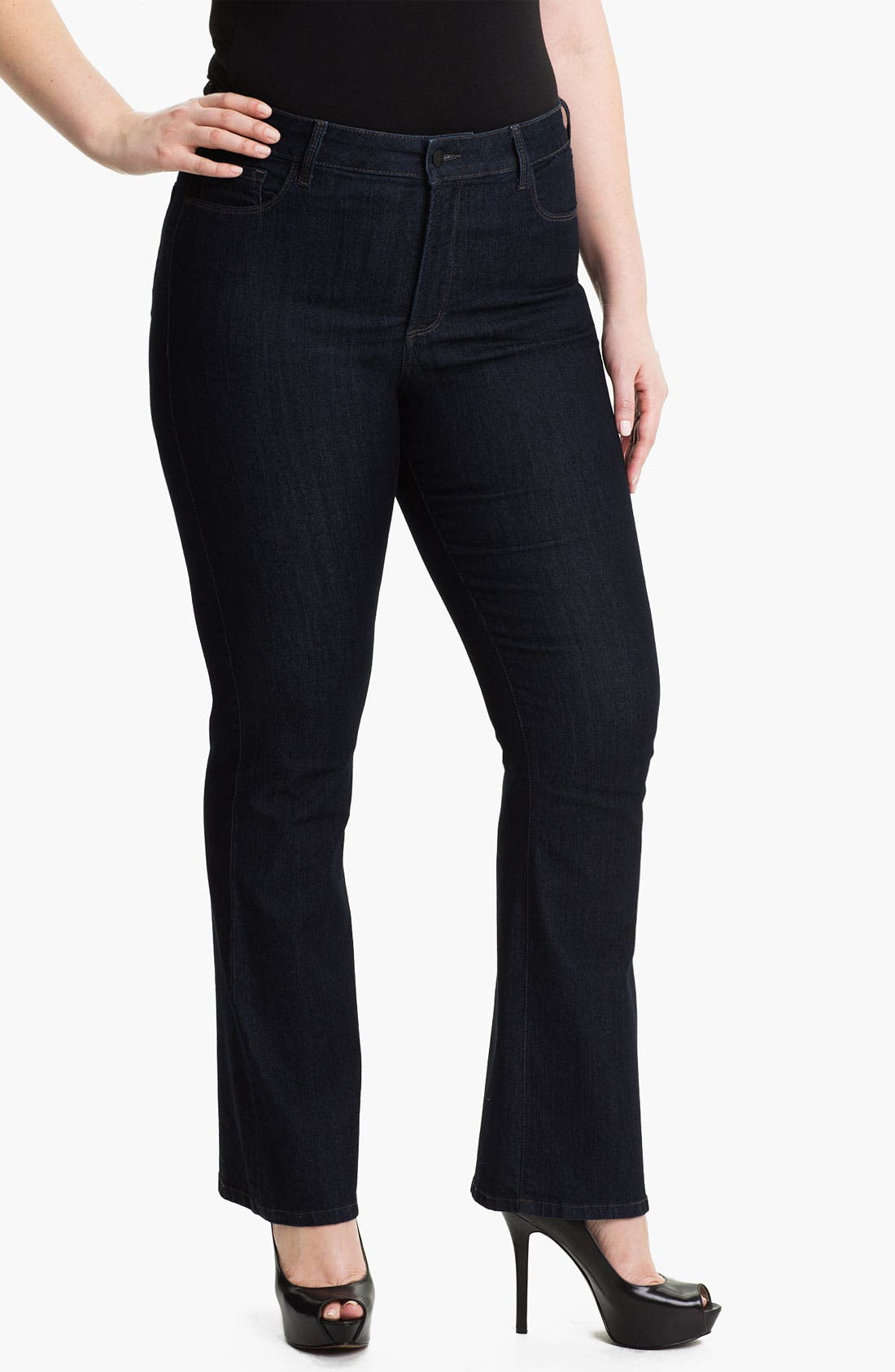 Alternate Image 1 Selected - NYDJ 'Barbara' Embroidered Bootcut Jeans (Plus)