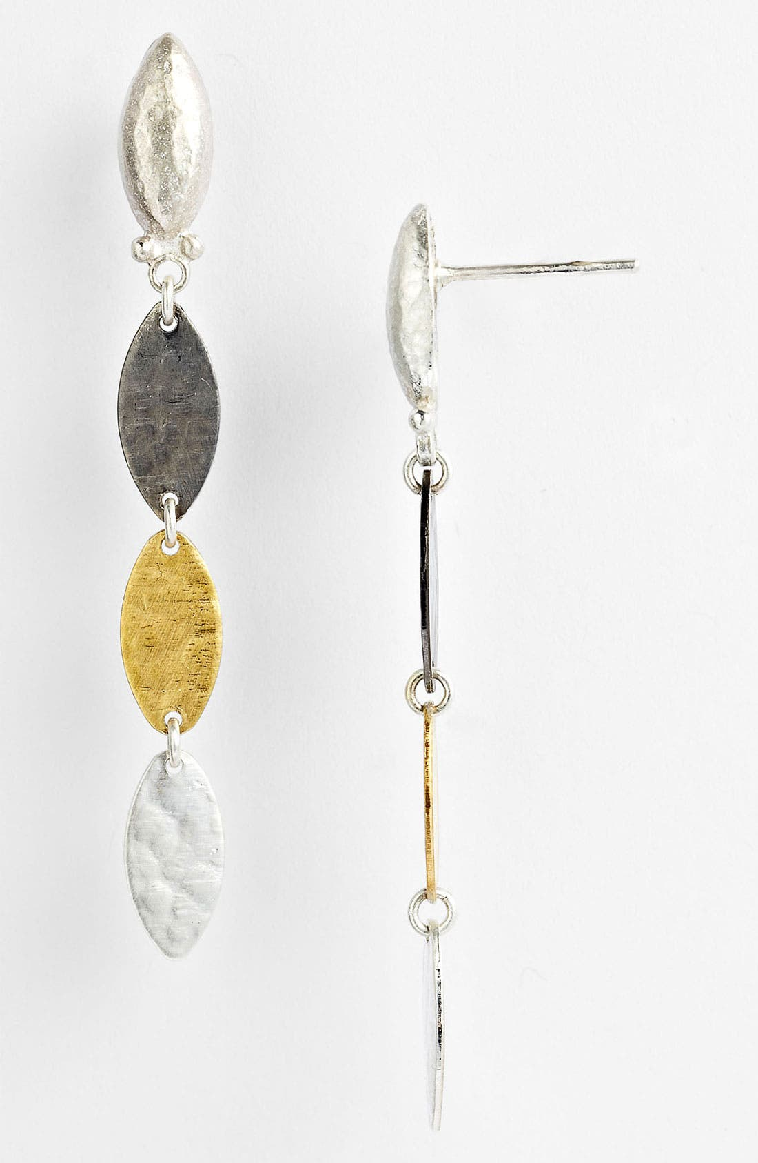 Main Image - Gurhan 'Willow' Mixed Triple Drop Earrings