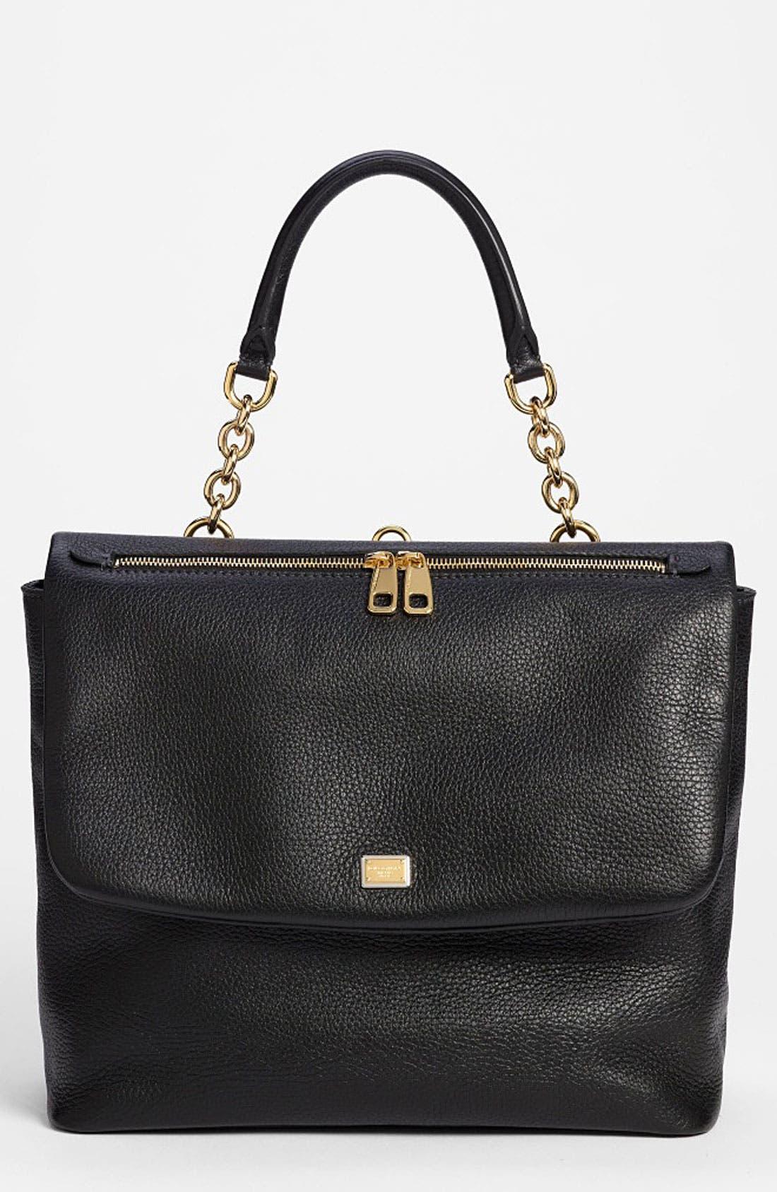 Main Image - Dolce&Gabbana 'Miss Emma' Leather Shoulder Bag