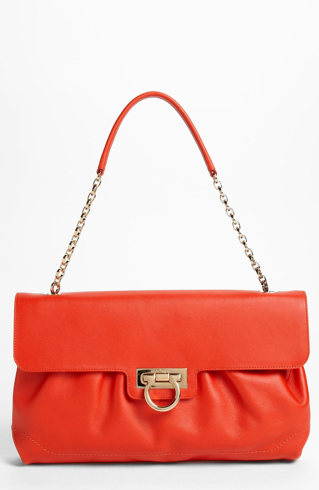 Alternate Image 1 Selected - Salvatore Ferragamo Chain Strap Leather Shoulder Bag