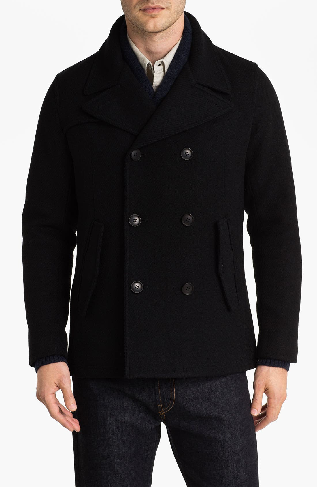 Alternate Image 1 Selected - Zachary Prell 'Franklin' Double Breasted Wool Blend Coat