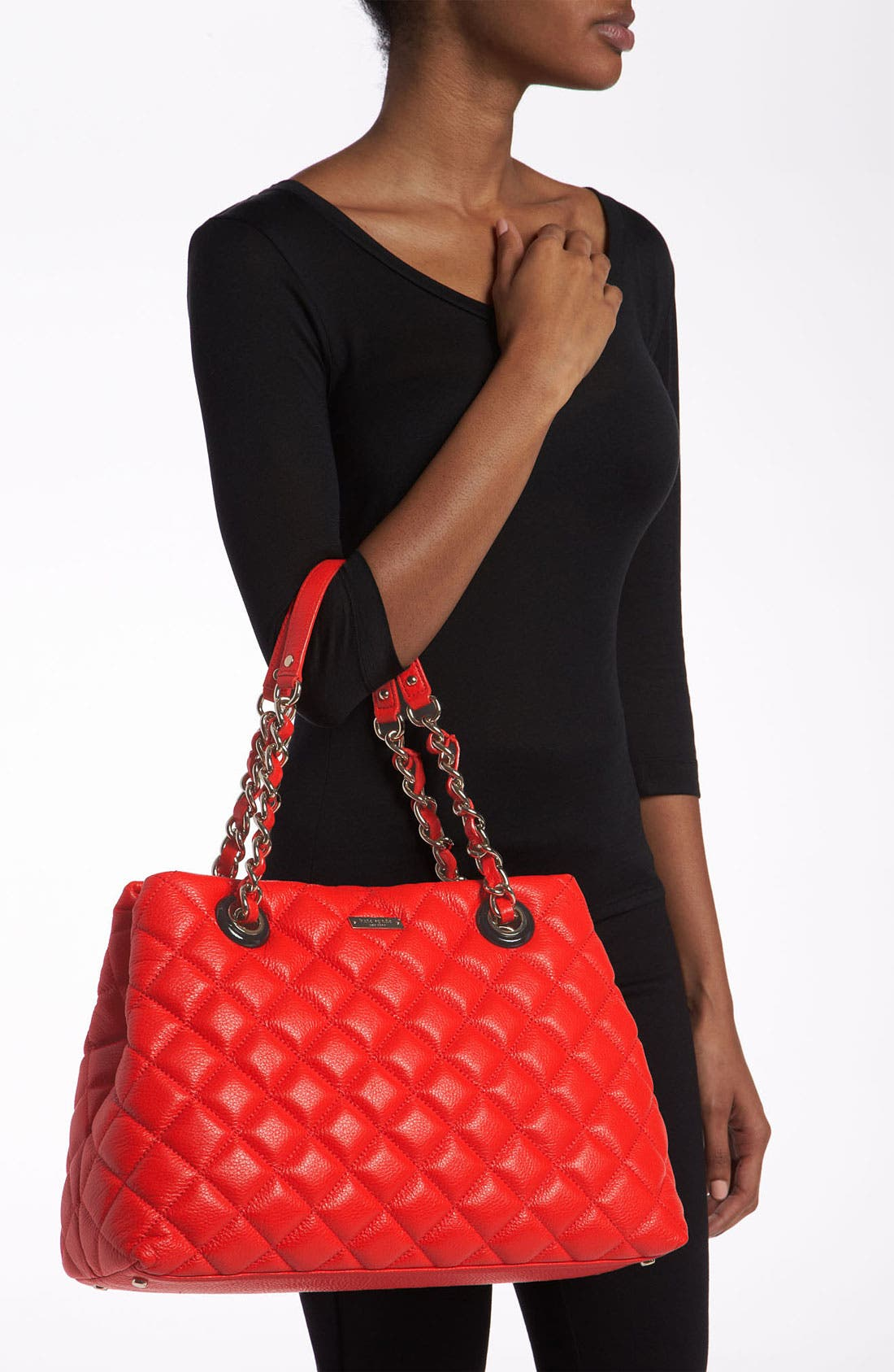 Alternate Image 2  - kate spade new york 'gold coast - maryanne' quilted leather shopper, large