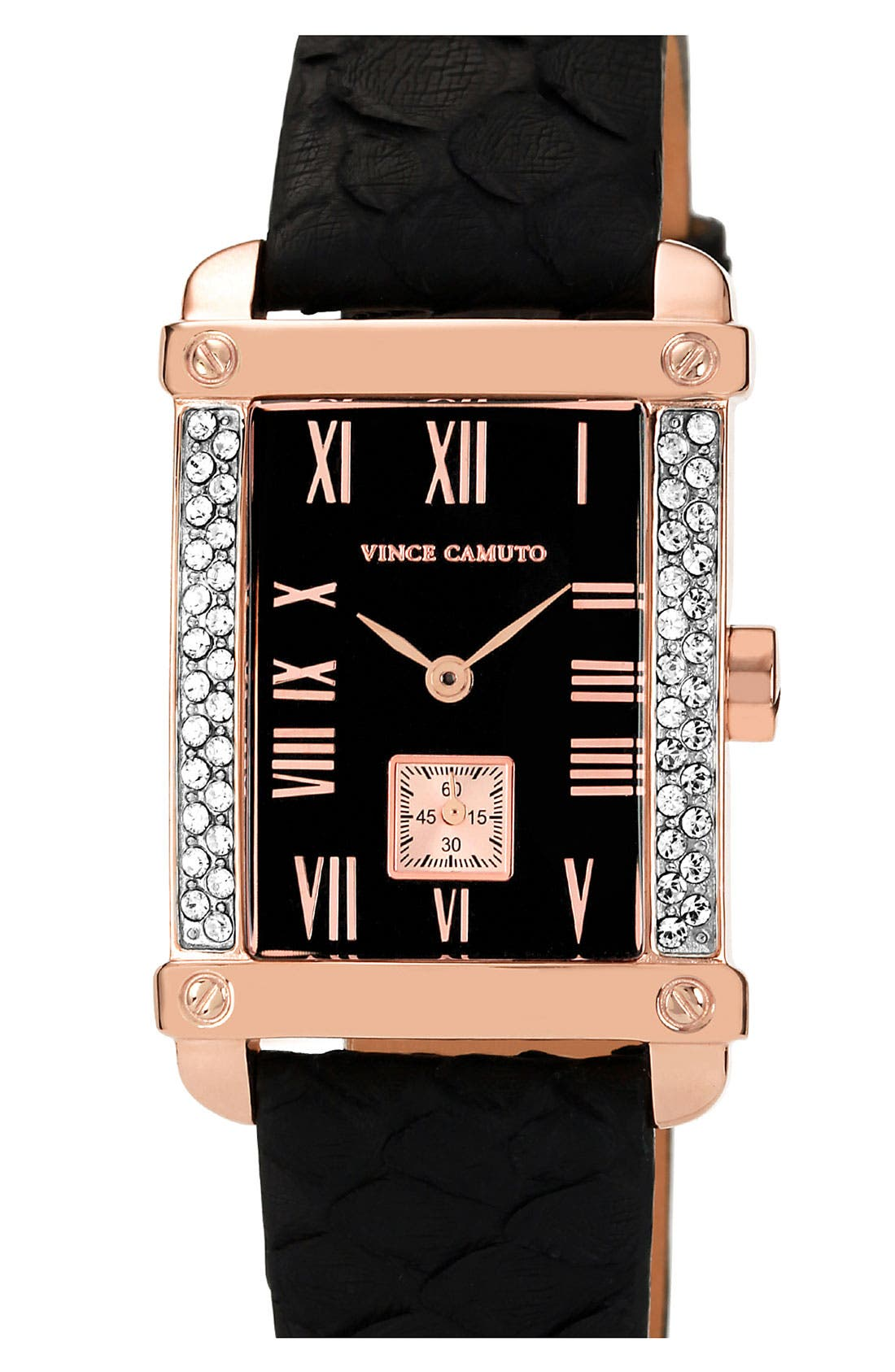 Main Image - Vince Camuto Genuine Python Strap Watch, 28mm x 36mm