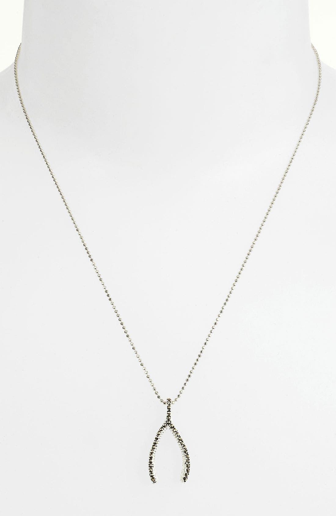 Alternate Image 1 Selected - Judith Jack Reversible Pavé Wishbone Pendant Necklace