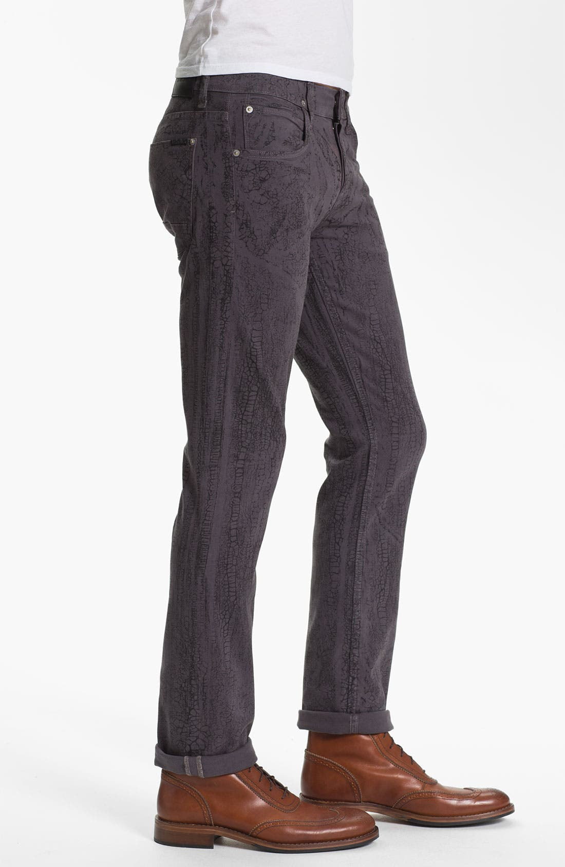 Alternate Image 3  - Hudson Jeans 'Sartor' Slouchy Skinny Leg Jeans (Gone Platinum)