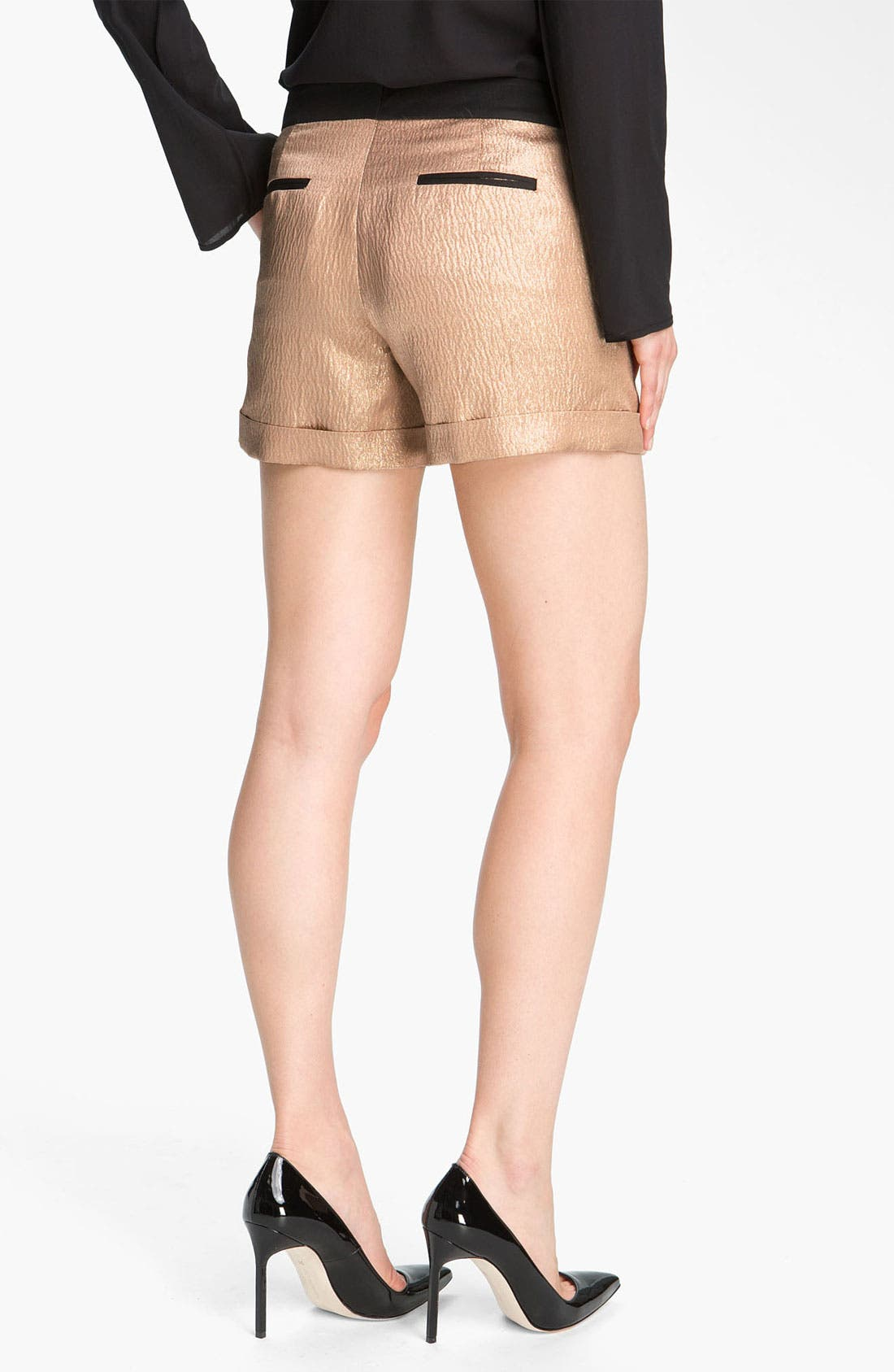 Alternate Image 2  - Derek Lam 10 Crosby Metallic Silk Shorts