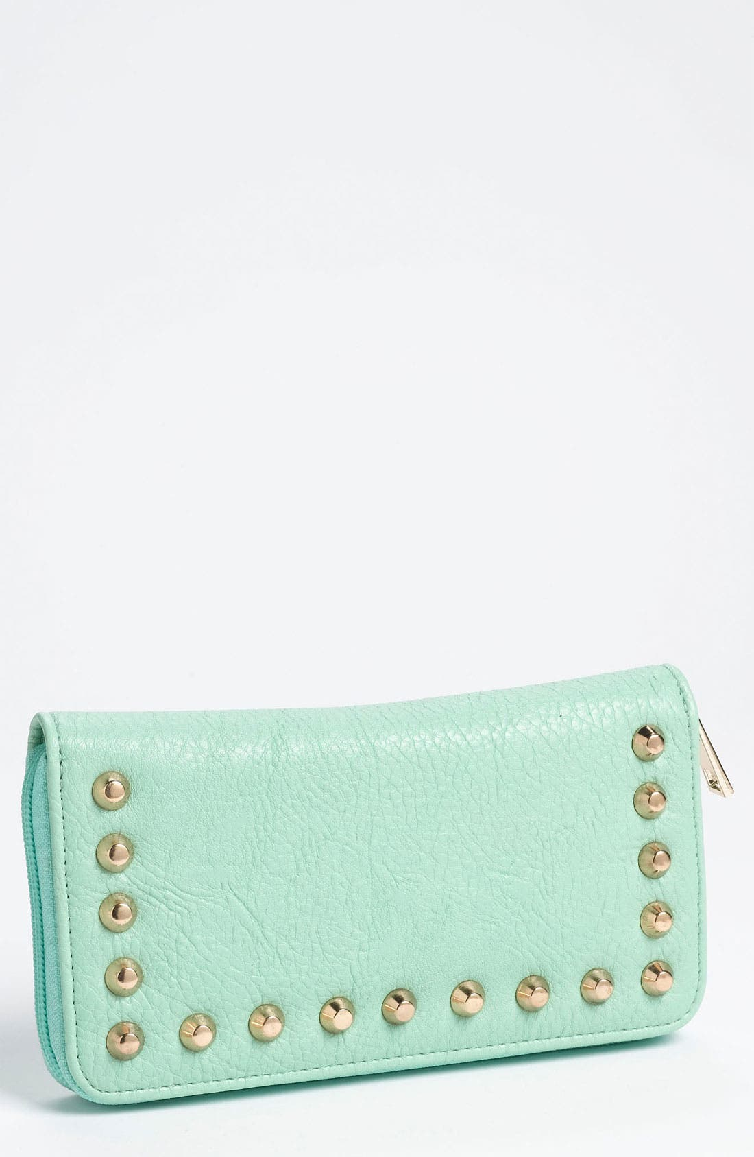 Main Image - Street Level Studded Zip Wallet