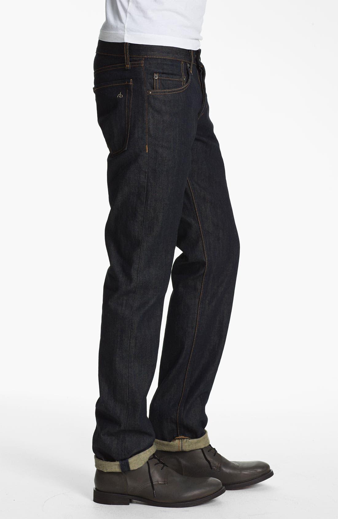 Alternate Image 3  - rag & bone 'RB19X' Slim Straight Leg Jeans (Olive Resin)