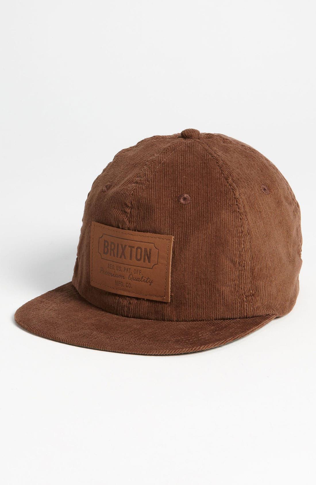 Main Image - Brixton 'Clark II' Corduroy Baseball Cap