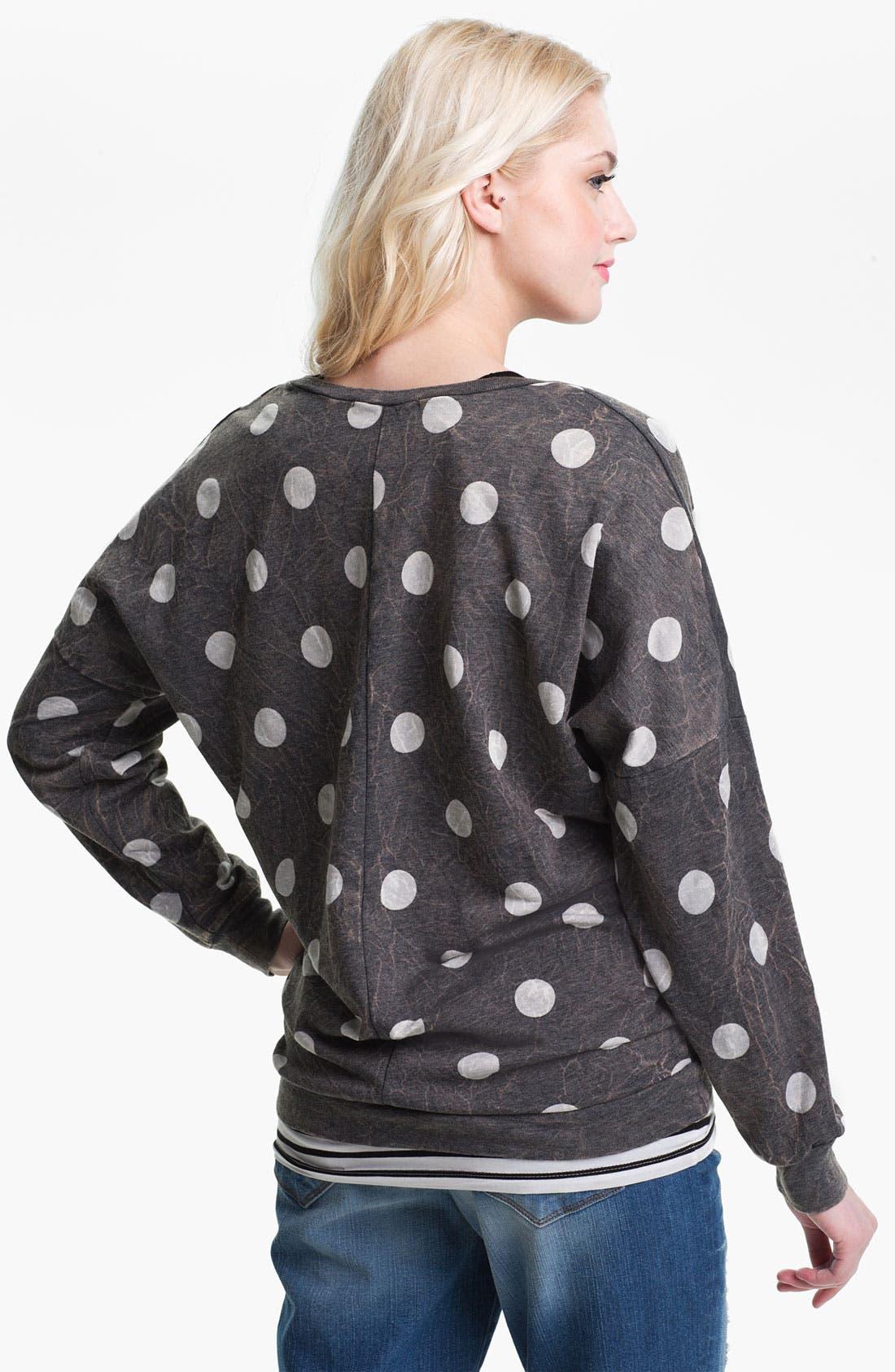 Alternate Image 2  - Current Affair Distressed Dot Sweatshirt