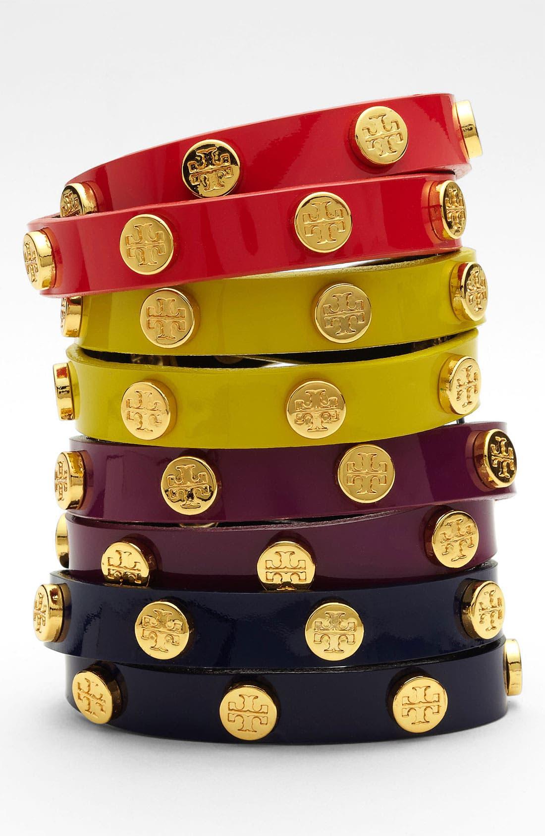 Main Image - Tory Burch Logo Double Wrap Bracelet