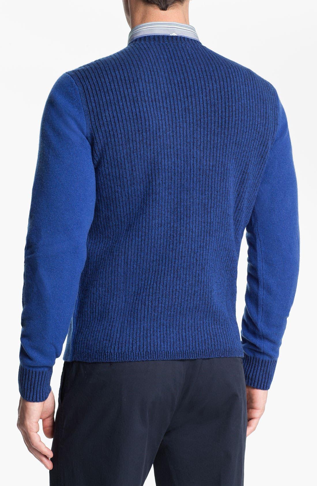 Alternate Image 2  - Façonnable V-Neck Wool Sweater