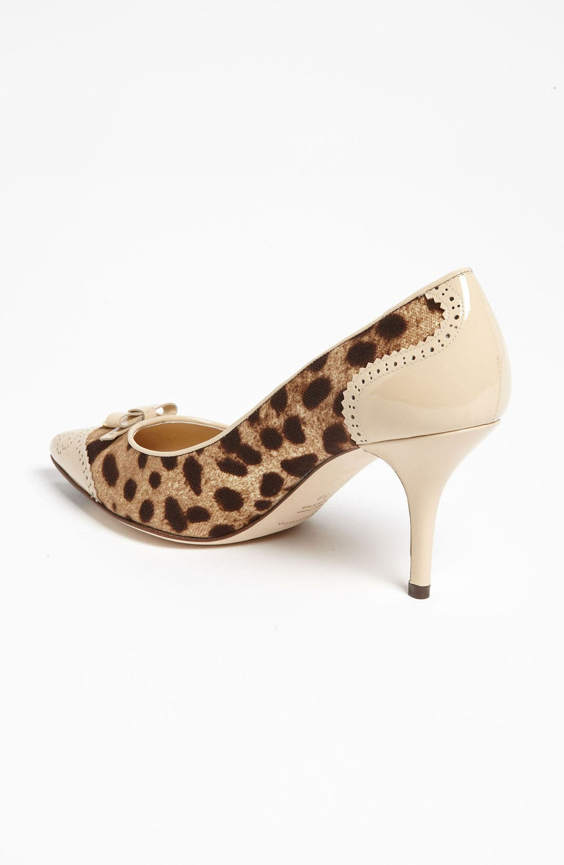 Alternate Image 2  - Dolce&Gabbana Leopard Print Bow Pump