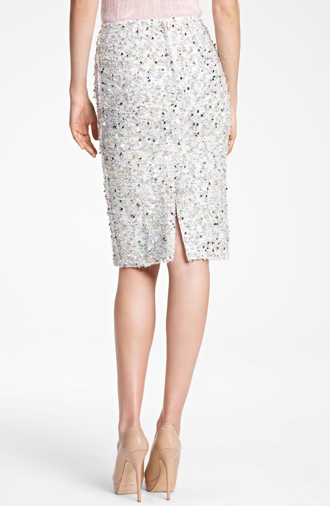 Alternate Image 2  - Nina Ricci Paillette Tweed Pencil Skirt