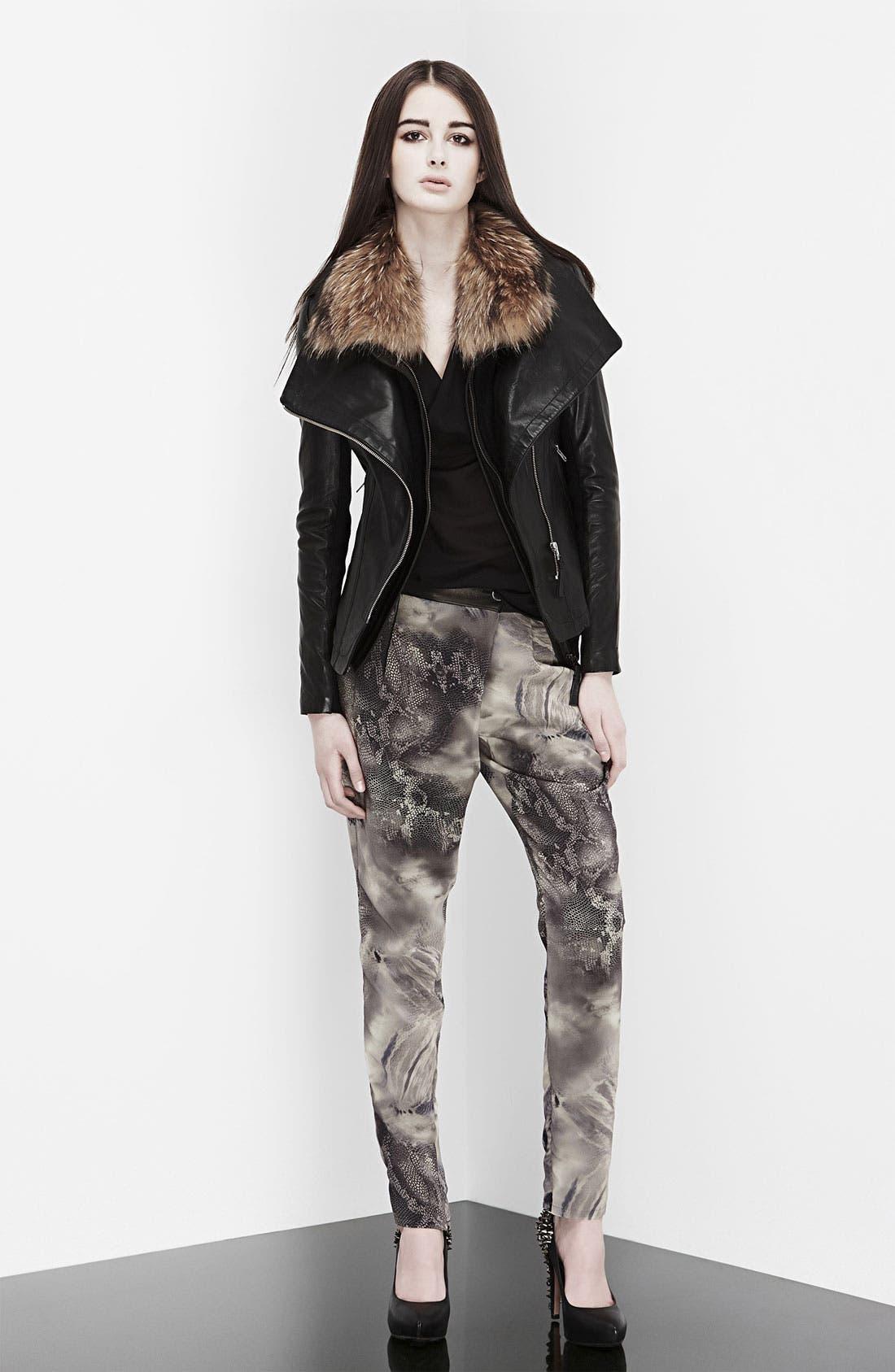 Alternate Image 6  - Mackage 'Jora' Genuine Coyote Fur Collar Leather Jacket with Removable Vest