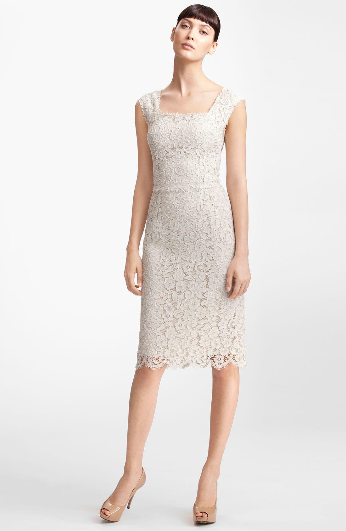 Alternate Image 1 Selected - Dolce&Gabbana Floral Lace Sheath Dress