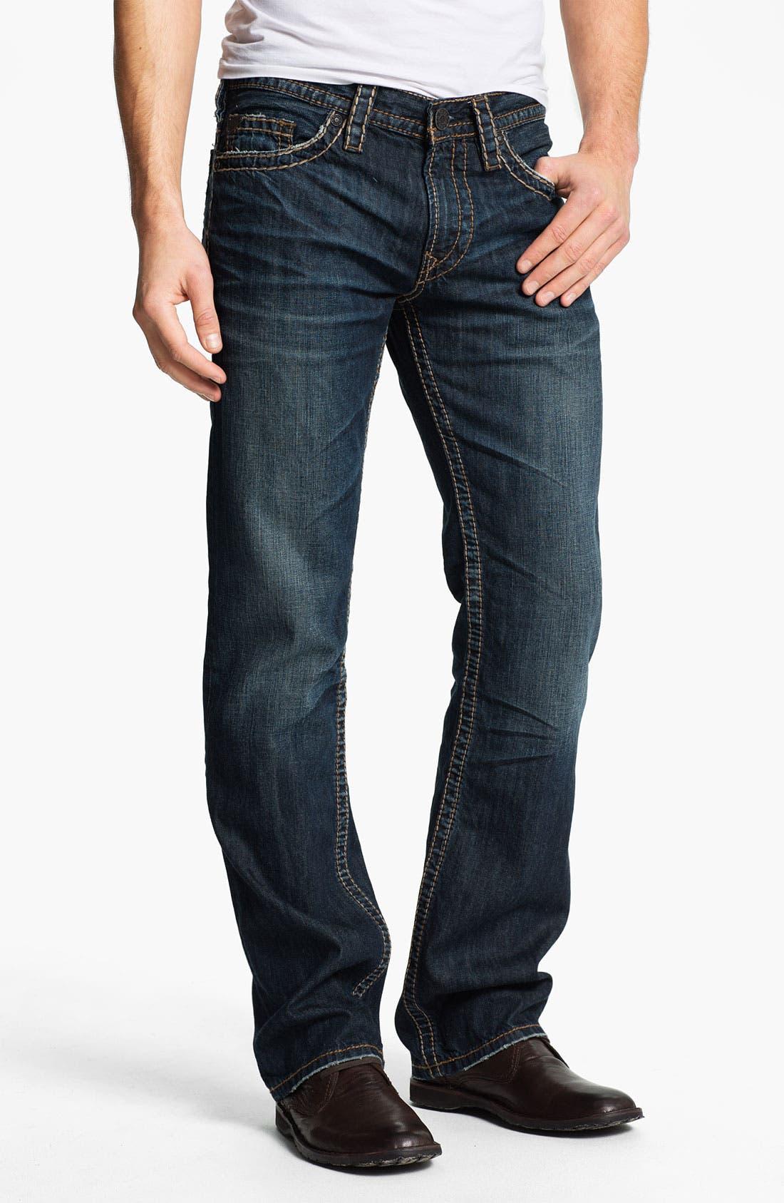 Alternate Image 2  - Silver Jeans Co. 'Nash Heritage' Straight Leg Jeans (Indigo)