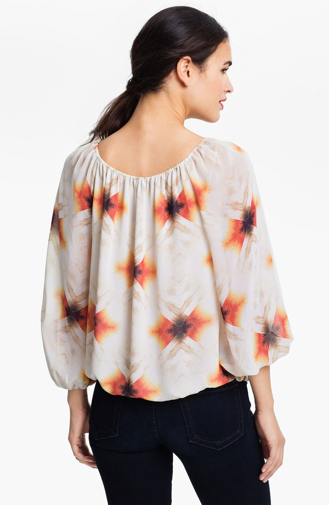 Alternate Image 2  - Vince Camuto 'Feathered Geo' Peasant Blouse