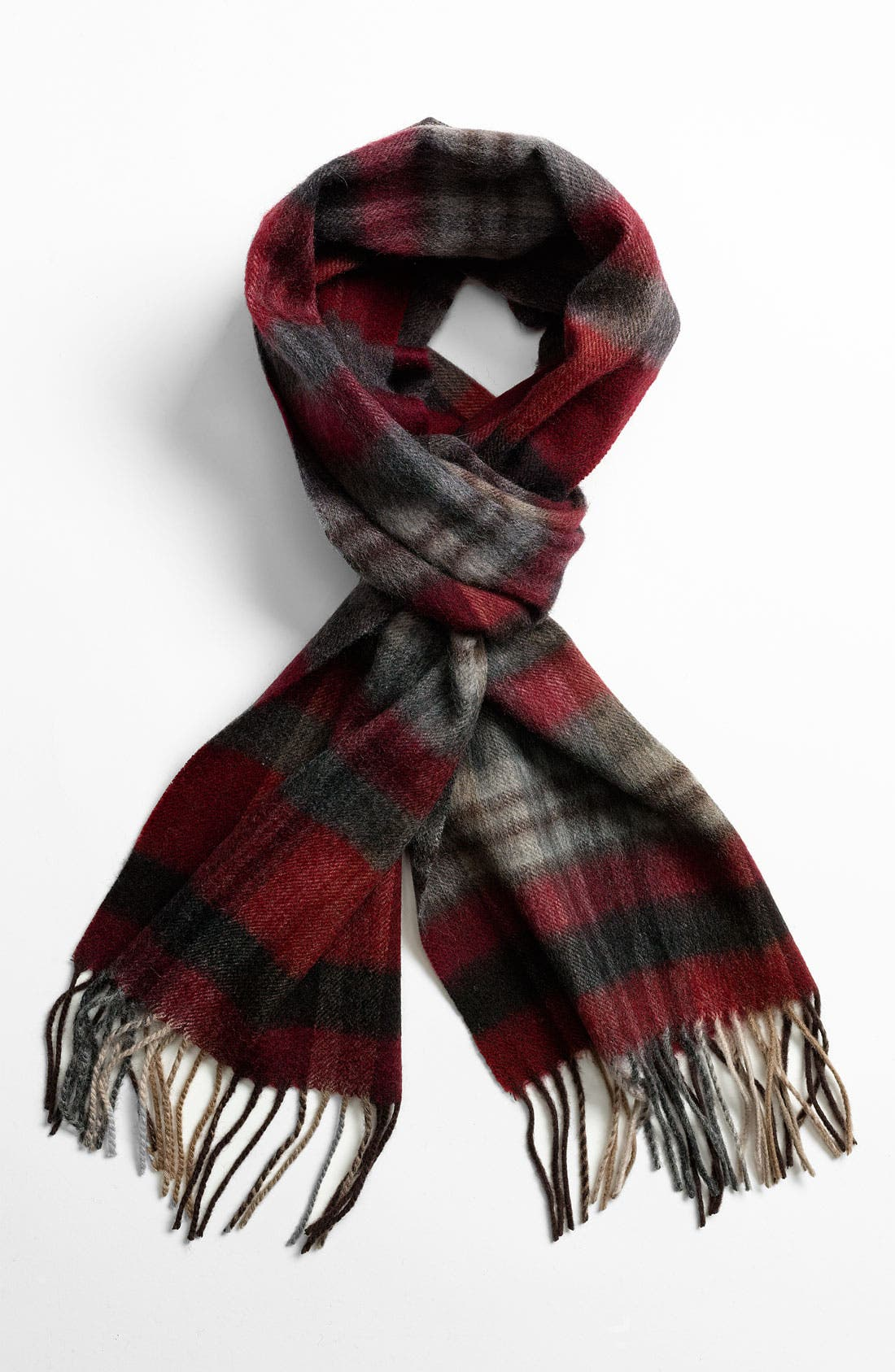 Alternate Image 1 Selected - Nordstrom Wool Plaid Scarf