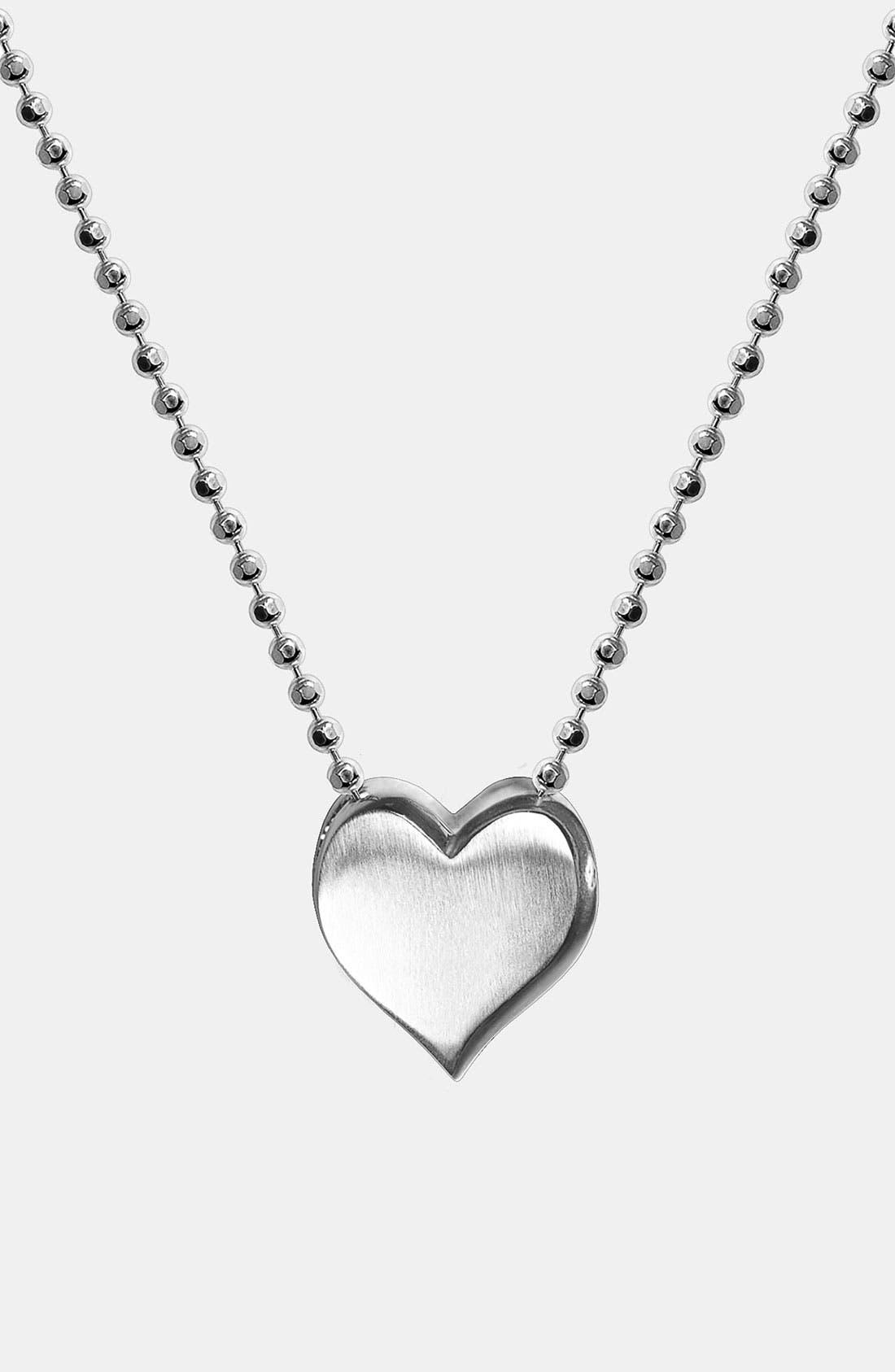 Alternate Image 1 Selected - Alex Woo 'Little Vegas' Heart Pendant Necklace