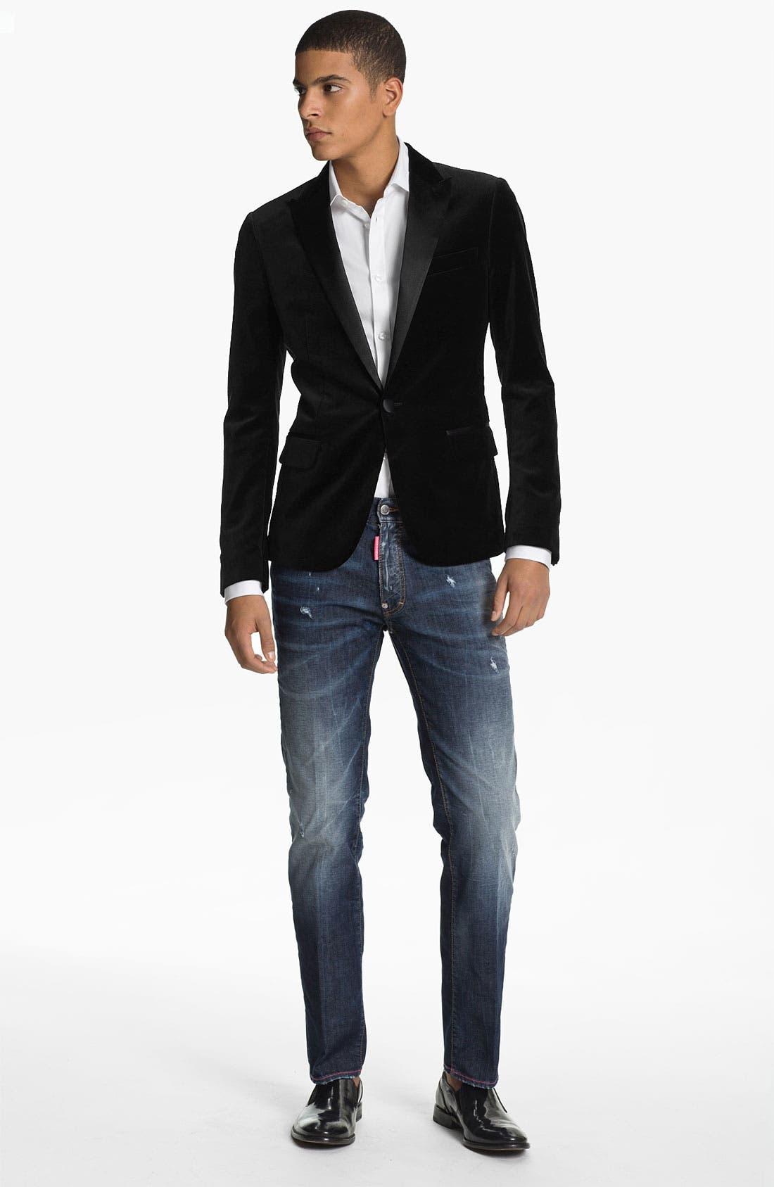 Alternate Image 4  - Dsquared2 One Button Tuxedo Jacket