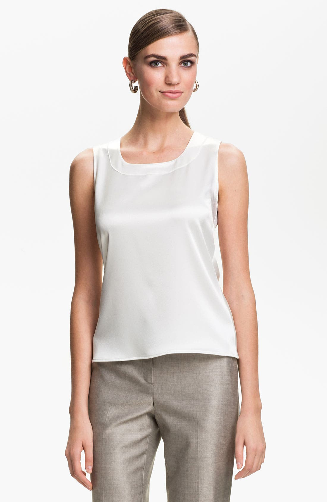 Main Image - St. John Collection Scoop Neck Shell