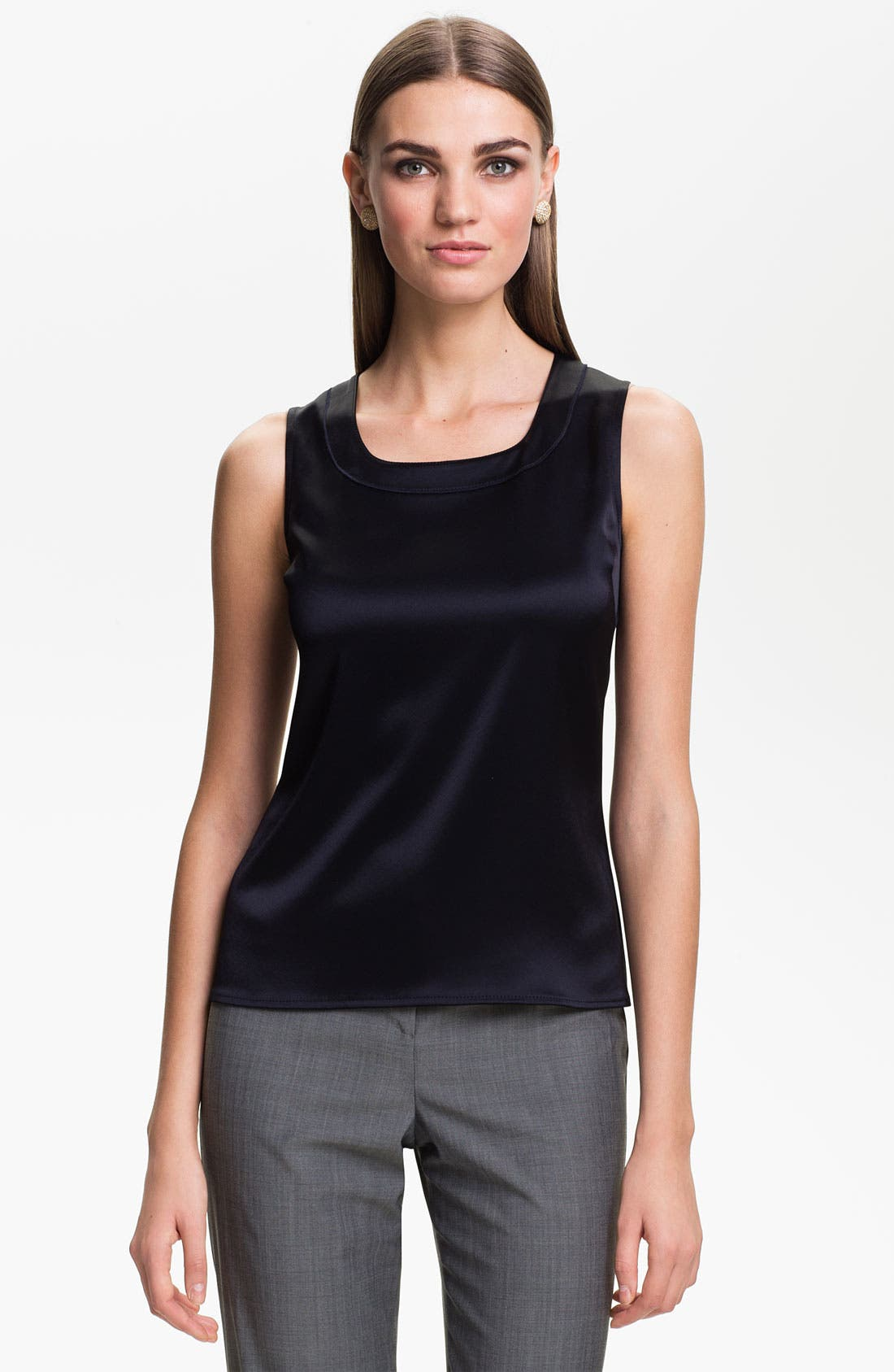 Alternate Image 1 Selected - St. John Collection Scoop Neck Shell