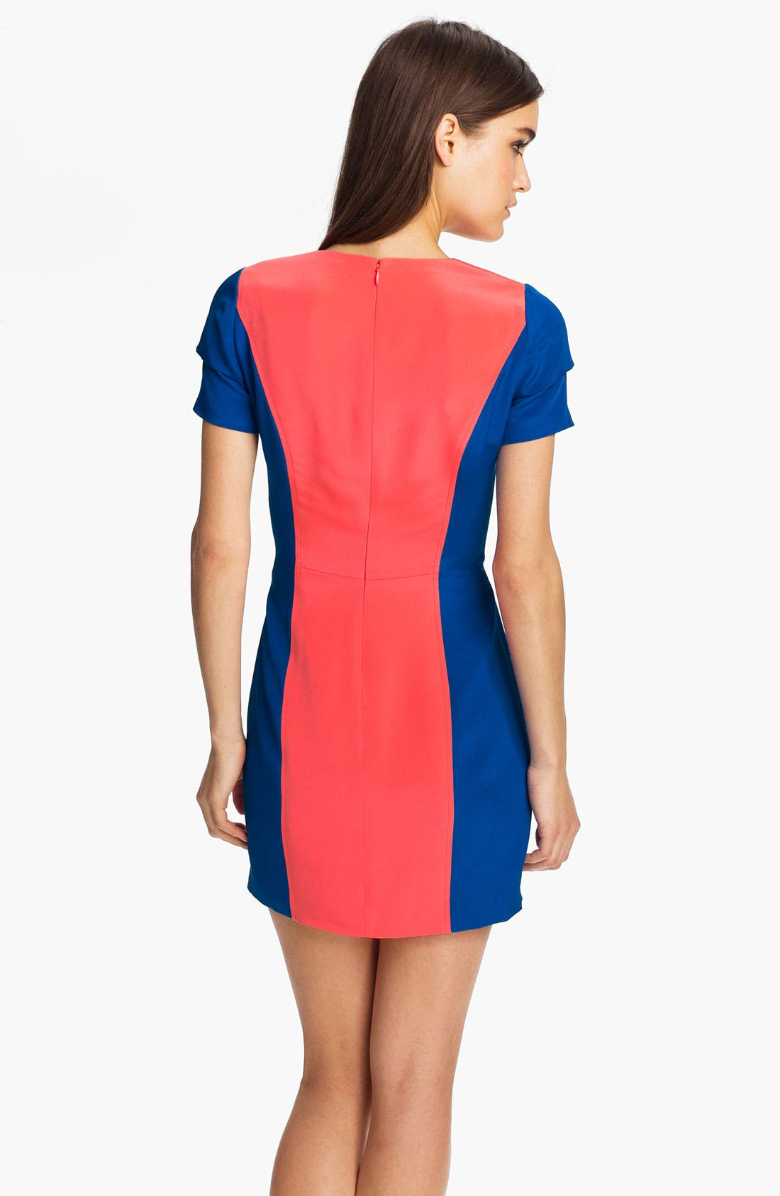 Alternate Image 2  - Rebecca Minkoff 'Katya' Colorblock Silk Dress
