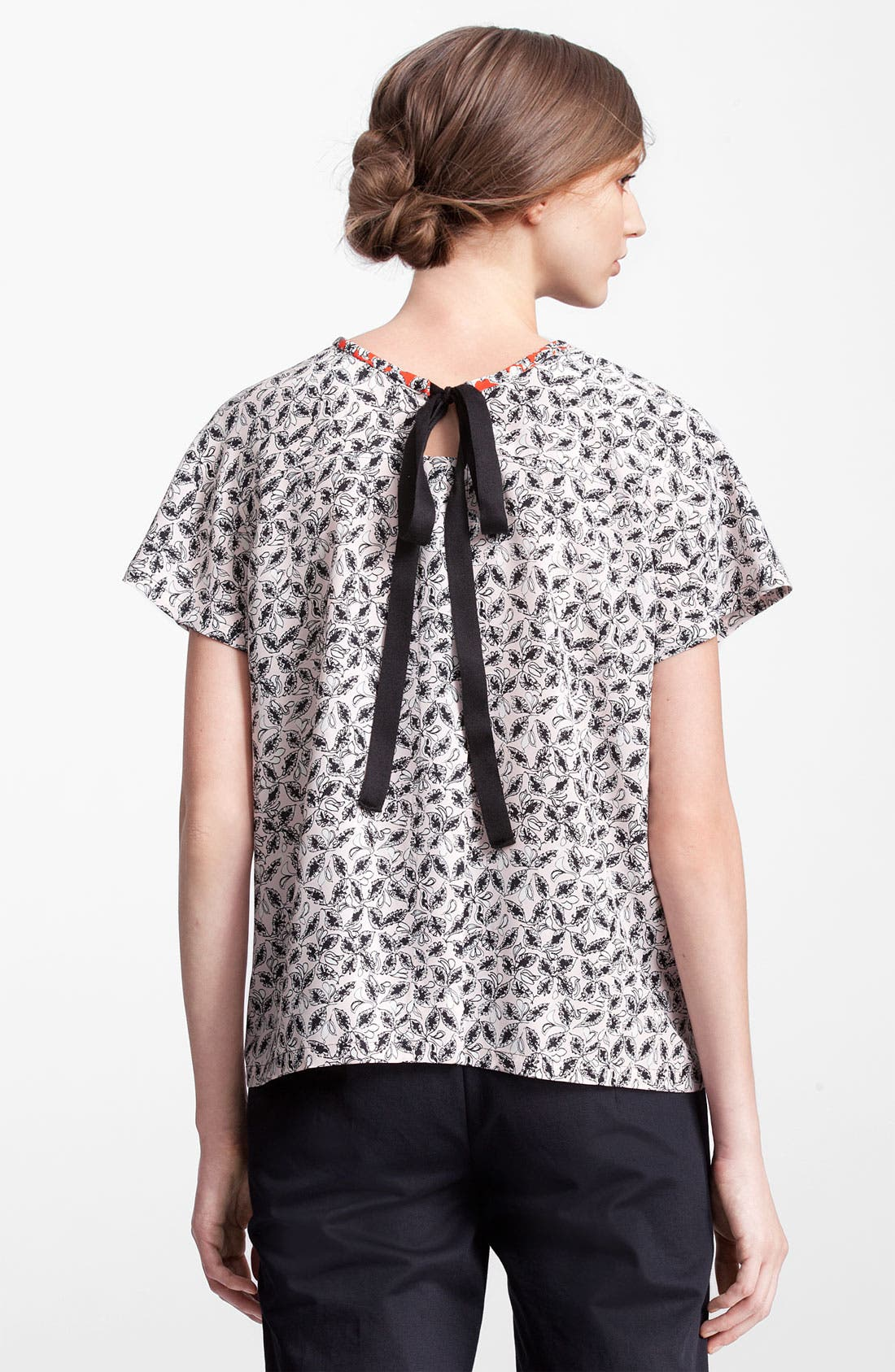 Alternate Image 2  - Marni Edition Leaf Print Silk Top