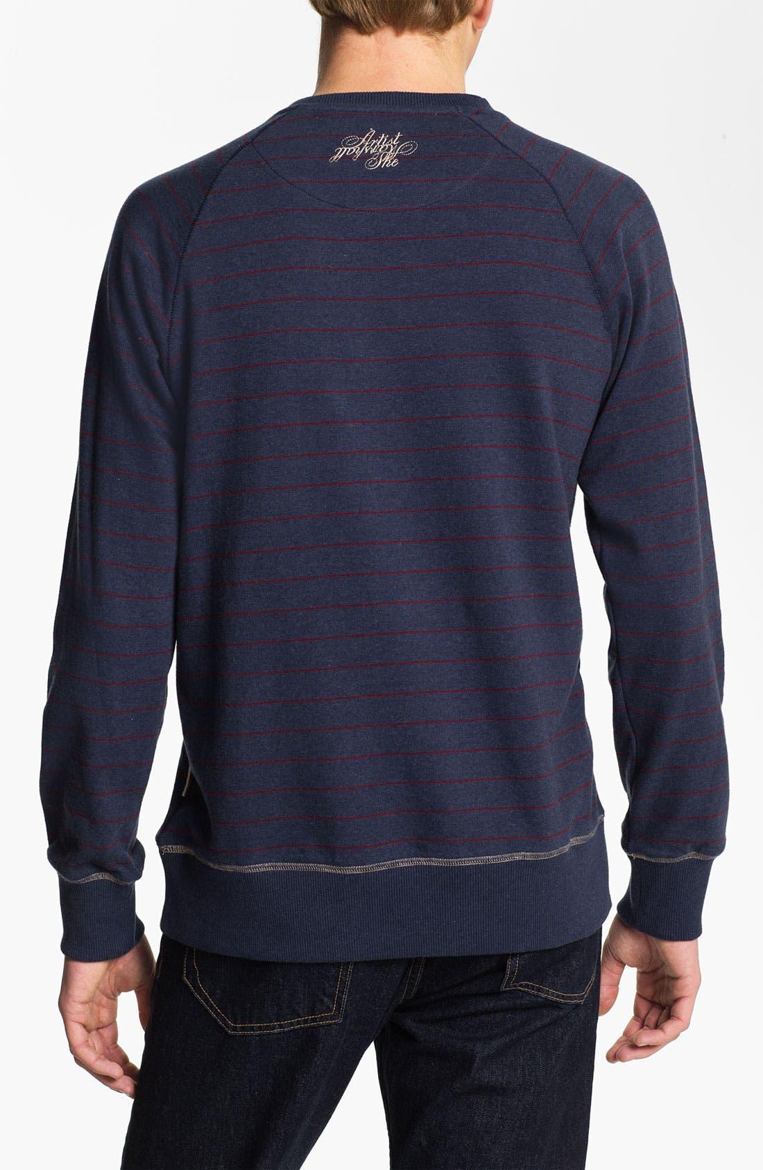 Alternate Image 2  - Marshall Artist Stripe Crewneck Sweatshirt