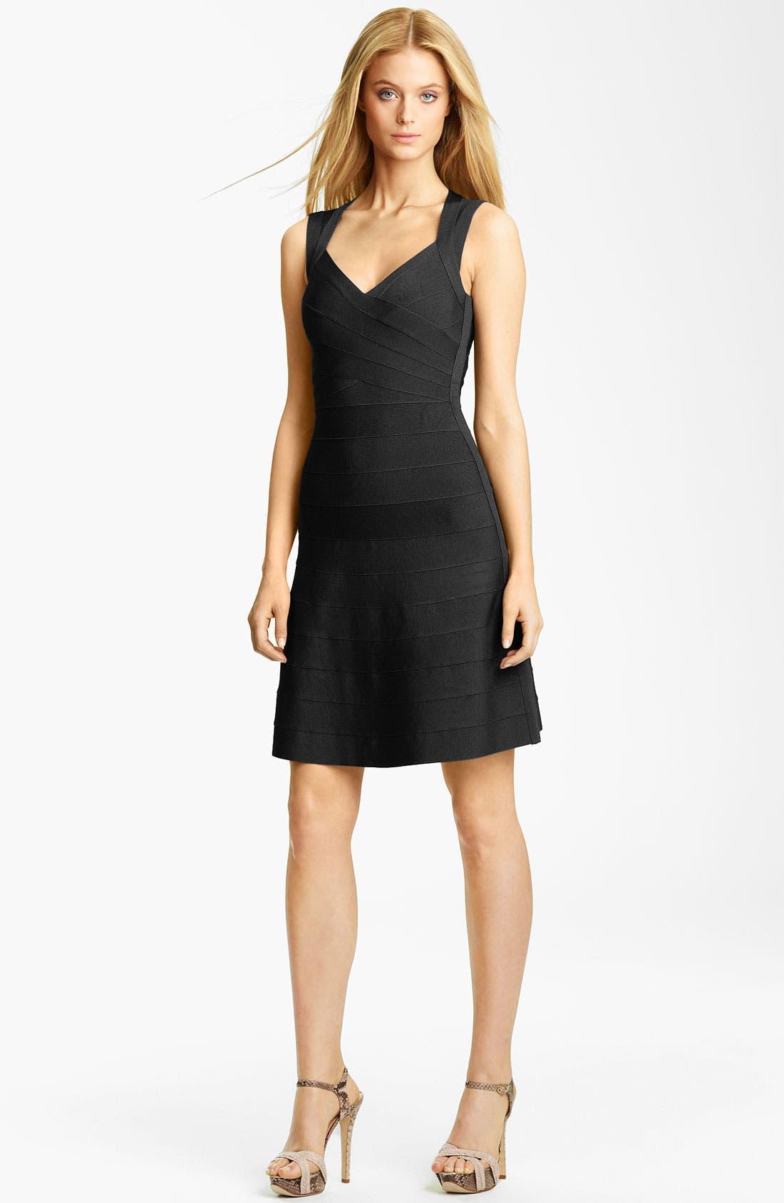 Alternate Image 1 Selected - Herve Leger Full Skirt Bandage Dress
