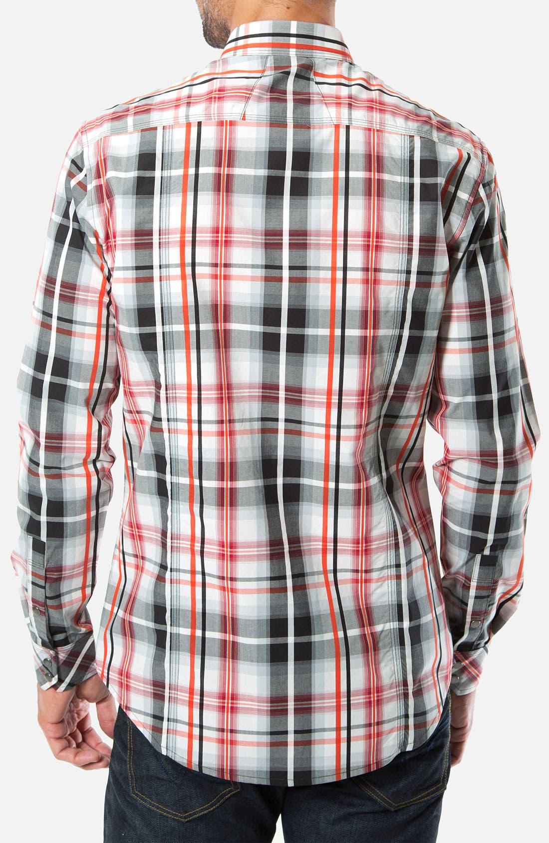 Alternate Image 2  - 7 Diamonds 'Ace of Spades' Woven Sport Shirt