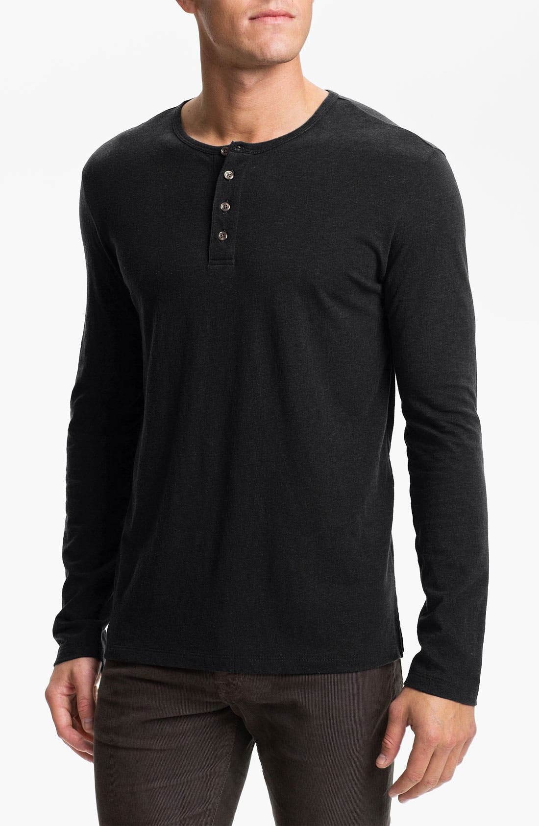 Main Image - Vince Heathered Cotton Henley