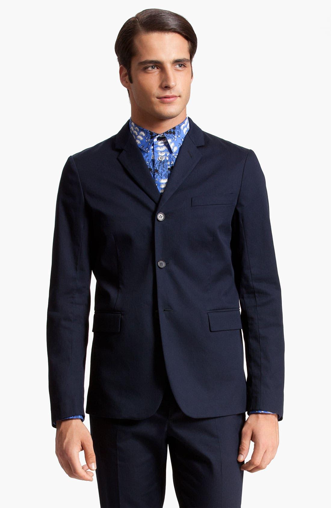 Main Image - Marni Three Button Cotton Twill Blazer